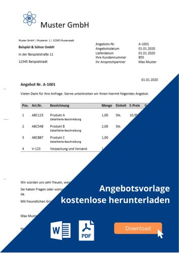 Angebot Den Angebotsprozess Genau Erklärt Microtechde