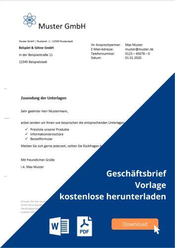 Geschäftsbrief Vorlage Muster Gratis Download Microtech