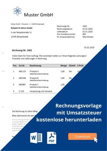 Rechnungsvorlage Als Word Kostenlos Herunterladen Microtechde